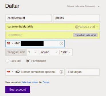 Cara Membuat Email Yahoo Dengan mudah dan cepat 2