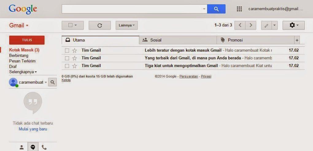 Cara Membuat Email Praktis dan Cepat Gmail 3