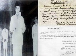Proklamasi Kemerdekaan dan naskah proklamasi kemerdekaan Indonesia yang dibacakan bung Karno pada tanggal 17 Agustus 1945