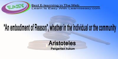 pengertian hukum menurut aristoteles