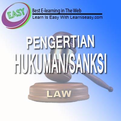 Pengertian hukum dan pengertian sanksi
