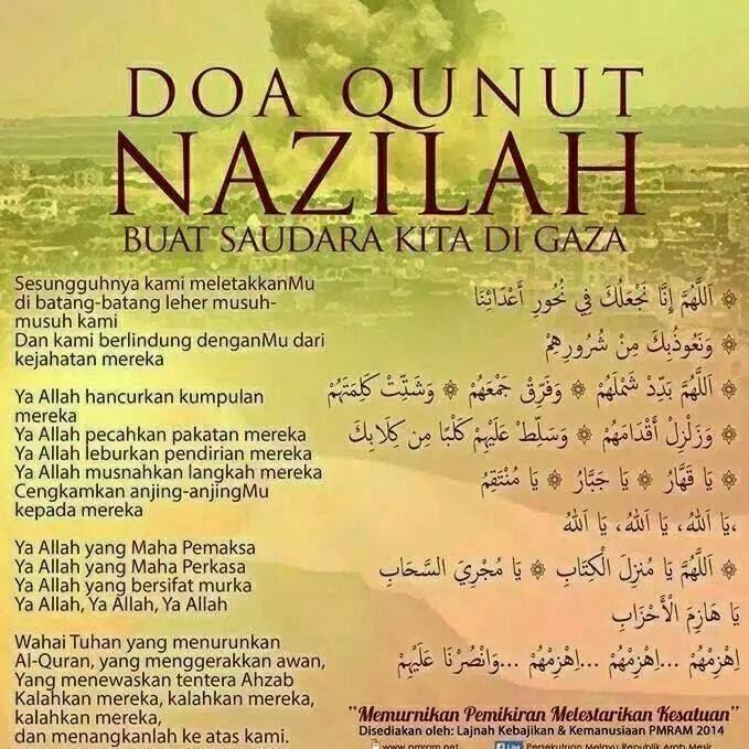 Bacaan doa qunut nazilah untuk korban perang suriah, gaza dan lainnya