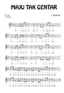 Pencipta lagu maju tak gentar beserta lirik lagu maju tak gentar