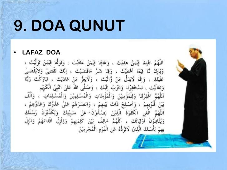 Bacaan doa qunut subuh untuk imam shalat berjamaah