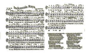 Lagu Indonesia Raya yang resmi digunakan beserta Not angka dan not balok serta biramanya