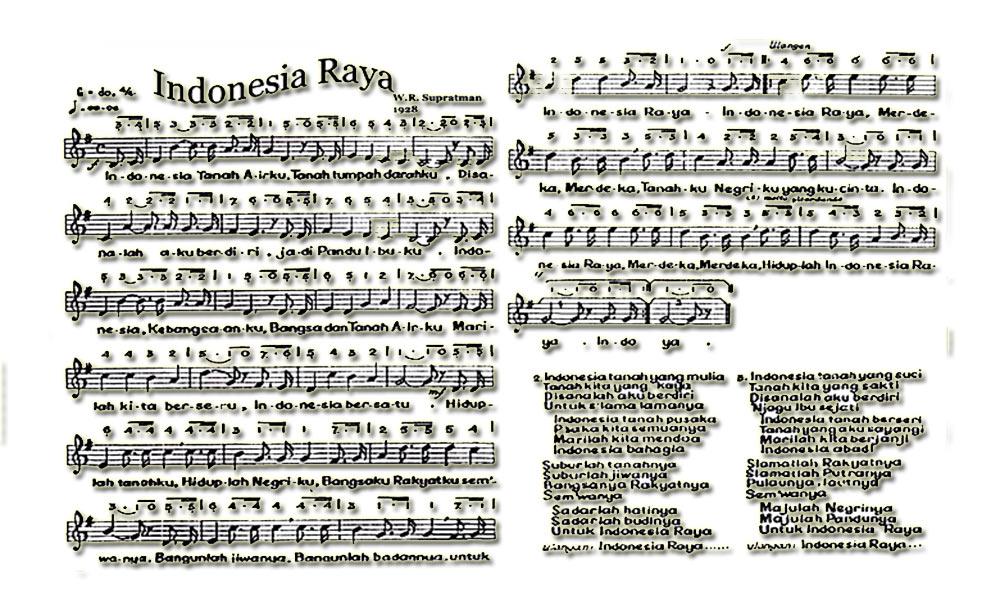 Pencipta Lagu Indonesia Raya Birama Lirik Not Chord Dan Birama