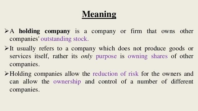 Pengertian perusahaan holding atau pengertian holding