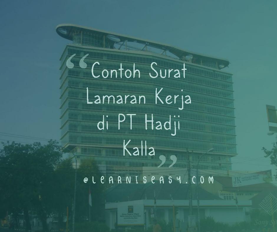 contoh surat lamaran kerja PT Hadji Kalla