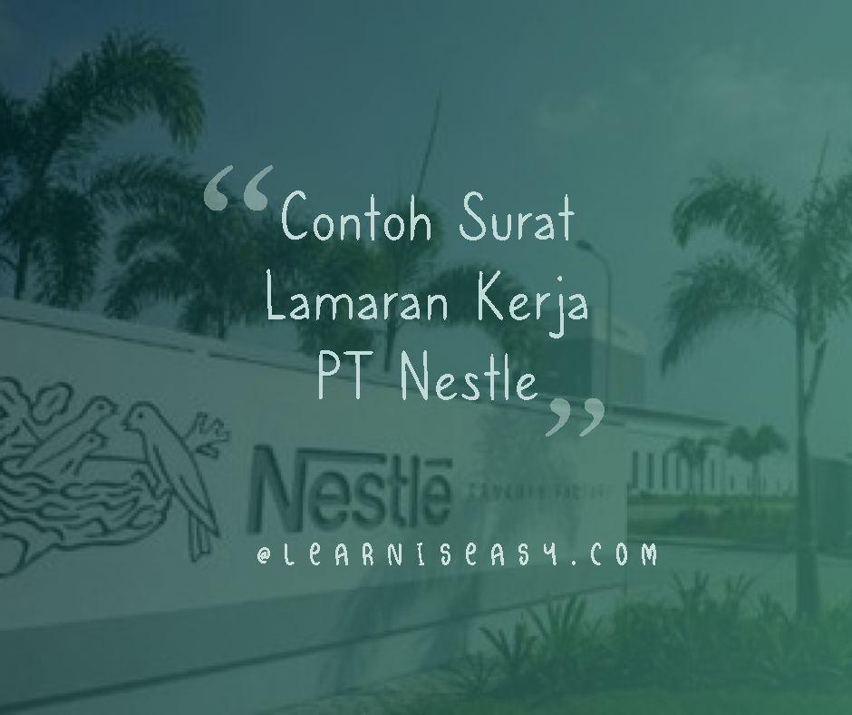 contoh surat lamaran kerja PT Nestle