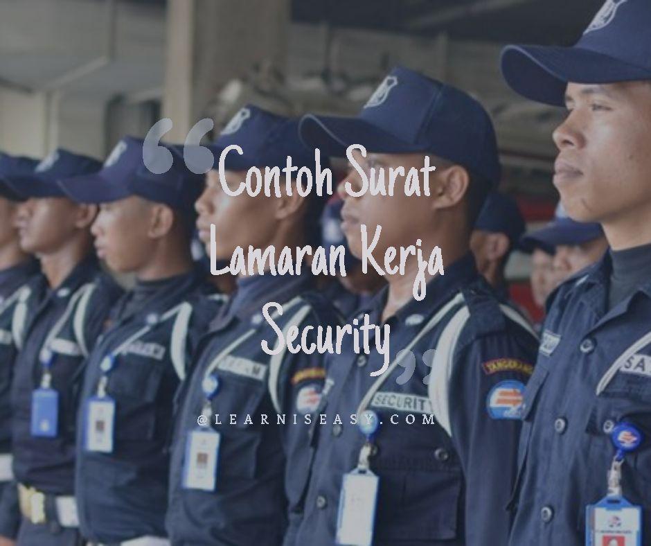 Contoh Surat Lamaran Kerja Security Satpam