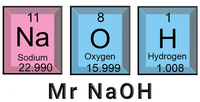 cara menghitung mr NaOH